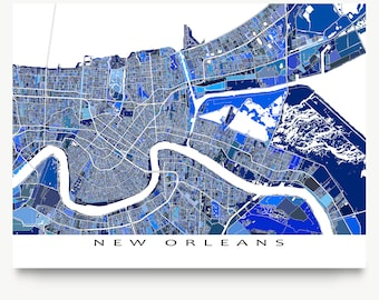 Street map New Orleans Louisiana