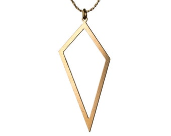 Geometric 14K Gold Filled Pendant Necklace Layering Necklace Choker Simple Jewellery Handmade Free UK delivery GP39
