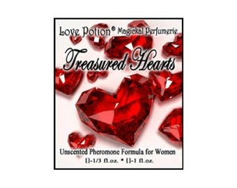 Treasured Hearts - UNscented Pheromone Blend for Women - Love Potion Magickal Perfumerie