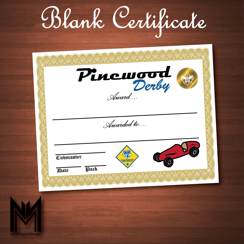 Printable blank pinewood derby certificate bsa cub scout for Pinewood derby certificate pdf