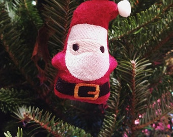 Little Santa Stuffed Ornament