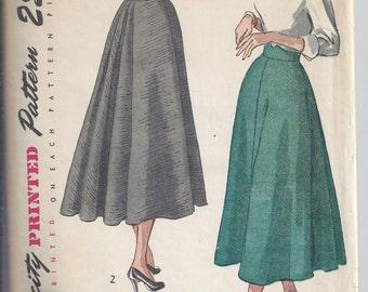 Simplicity 2608 1940's Vintage skirt pattern, Waist 28