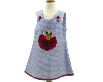 Gril  Elmo aline dress toddler Elmo aline dress baby dress girl dress toddler dress girl aline dress birthday dress name girl dress