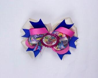 Shopkings bow,  Shopkings hair bow, Shopkings birthday bow.  girl hair bow, Shopkings girl hair bow. Shopkings.