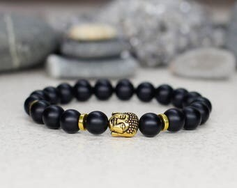 Protection bracelet Buddha bracelet Mala bracelet Reiki bracelet Buddhist bracelet Mantra bracelet Zen jewelry Spiritual gift Yoga gift men