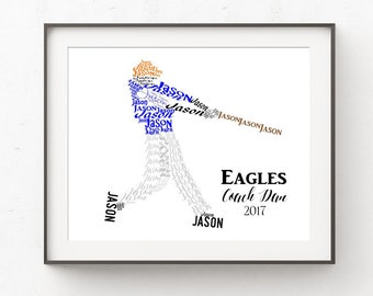 Baseball Gifts for Boys,  Baseball Room Decor,  Sports Nursery Decor, Baseball Coach Gift, Personalized Sports Gift, Baseball Prints