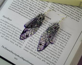 Fancy Purple Sprite - Dragonfly/Butterfly/Fairy Wing/Cicada Earrings