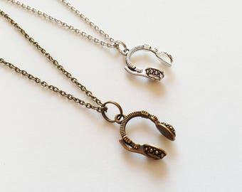 HEADPHONE Necklace Headphone Jewelry Headphone Gift DJ Jewelry DJ Necklace Dj Gift Musician Necklace Music Necklace Musician Gift Music Gift