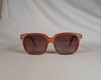 fabulous vintage sunglasses lunettes EMMANUELLE KHANH carved decorated frame france