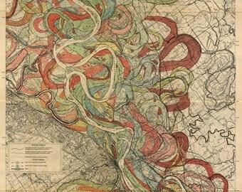Mississippi River, River Meander, Mississippi River Meander Belt, Mississippi Meander Belt, Meander Belt, River Mississippi, River Belt