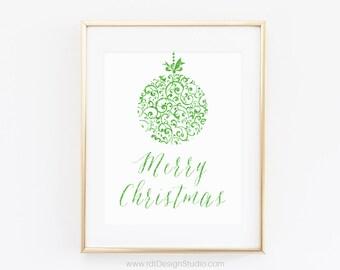 Christmas Poster, Christmas Wall Art 8X10, Christmas Gift, Modern Wall Art, Home Decor, Gift Ideas, Christmas Print, Christmas Decor, DT59