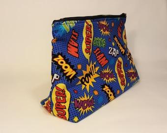 Comic / Pop Art Bag - Make Up Bag - Stand Up Bag