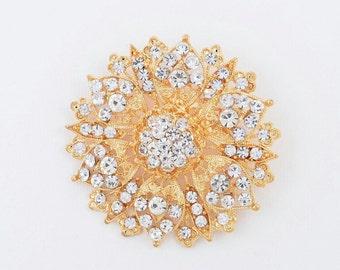 Rhinestone Wedding Brooch Crystal Rhinestone Bridal Brooch Wedding Accessories