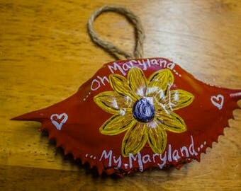 Painted Maryland Crab Shell