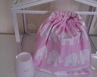 Bag with baby elephants