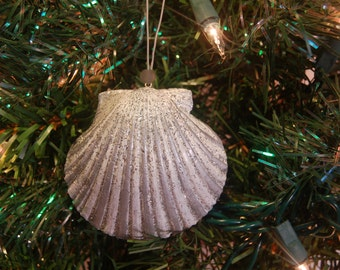 Coastal Ornament – Scallop Ornament – Beach Ornament – Beach Christmas Ornaments- Nautical Ornament – Sea Shell Ornament –Seashell Ornament