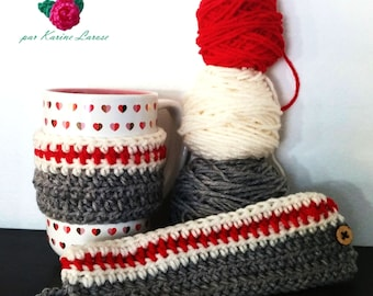Classic wool sock crochet mug cozy