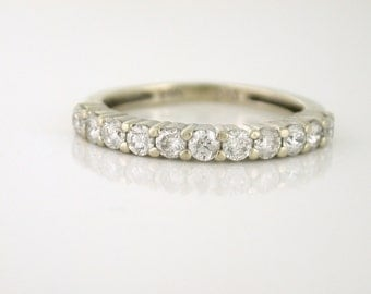 Diamond Quarter Carat Band, Estate piece 14k white gold - DIAR10032