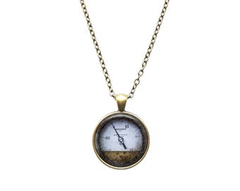 Old Steampunk Meter pendant Boiler necklace Steamboat jewelry