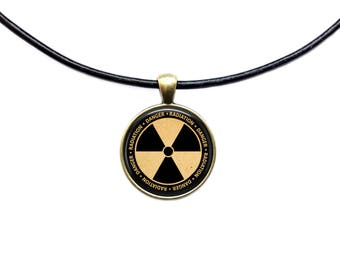 Radioactive necklace Nuclear pendant Sign jewelry