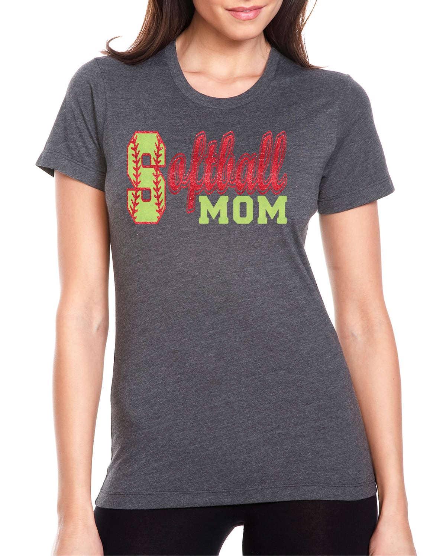 Softball mom tee softball apparel custom softball shirts for Ordering custom t shirts