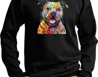 Men's Beware of Pit Bulls They Will Steal Your Heart Sweat Shirt 20149NBT2-PC90