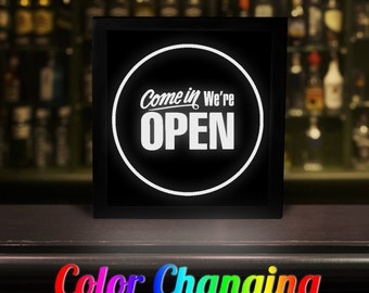 Open Closed Sign, Lighted Open Sign, Come In We're Open, Open Sign, Open Light, Remote Control Sign, Business Sign, Light Up Business Sign