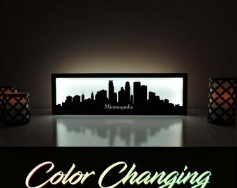 Minneapolis Skyline, Minneapolis Art, Abstract Skyline Art, City Skyline, Light Up Sign, City Skyline Art, Skyline Wall Art