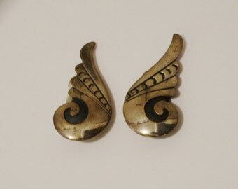 1900's Sterling Silver RARE Winged/Scroll Earrings.