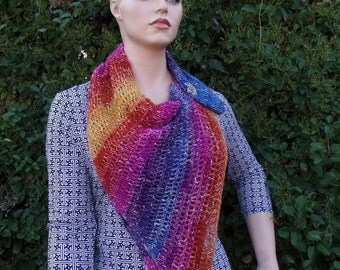 Crochet Easy Cowl Wrap Shawl in a Ball Pattern DIGITAL DOWNLOAD ONLY