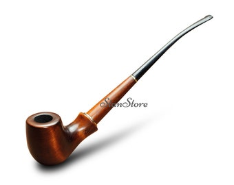 Churchwarden HOBBIT tobacco pipe Long Stem Smoking Pipe GANDALF Pipe Long Wooden Pipe Lord of the Rings LOTR Christmas in July Briar