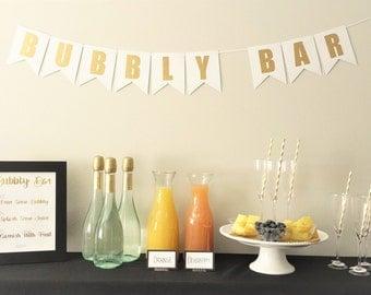 Mimosa Bar Bundle Package, Bubbly Bar Bundle for a Bridal Shower or Bachelorette Party