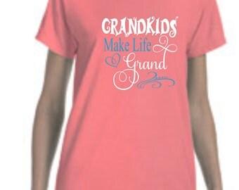 Comfort Colors Grandma t-shirt, grandma shirt, custom shirt, custom t-shirt, grandmother tshirt, mema tshirt, nana tshirt, nana t-shirt