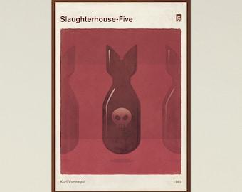 Kurt Vonnegut, Slaughterhouse-Five - Large Book Cover Poster, Literary Gift, Minimalist Poster, Sci Fi Art, Instant Download