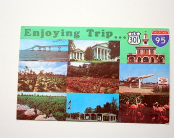 Enjoying Trip U.S. No. 31 and Interstate 95, Route 95, I 95 Postcard, Highway Postcard, Road Trip Postcard, Travel Postcard