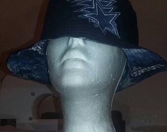 Dallas Cowboys Team Fabric Reversible Bucket Hats!! Custom Made