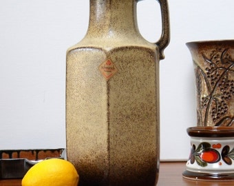 Vintage SCHEURICH 497-28 Jug Vase WEST GERMANY Art Pottery, Mid Century Modern, Fat Lava Era, Retro Home Décor 60's - 70's