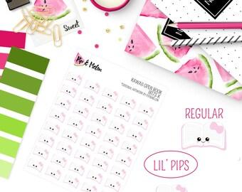 LIL' PIPS Kawaii Bible Study Stickers | 40 Kiss-Cut Stickers | Bible Study | IB172-K