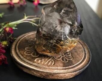 Golden rutilated quartz, smokey Quartz, included quartz, garden quartz