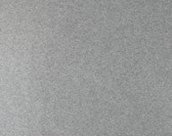 Grey Meliert Organic Rib / Cuff Knit Fabric - UK Seller