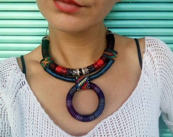 African necklace, Statement Necklace, Choker necklace, African Jewelry, Gift For Her, Ethnic Necklace, Collier Africain, Bojiux Africain
