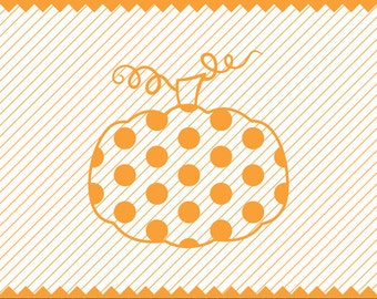 NEW! Polka Dot Pumpkin Svg file, Polka Dot Pumpkin for Vinyl Cutters, Fall SVG, Halloween SVG, Highest Quality Instant Download Etsy Store