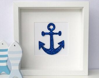 Anchor art, nautical decor, anchor wall art, beach decor, nautical nursery, anchor wall decor