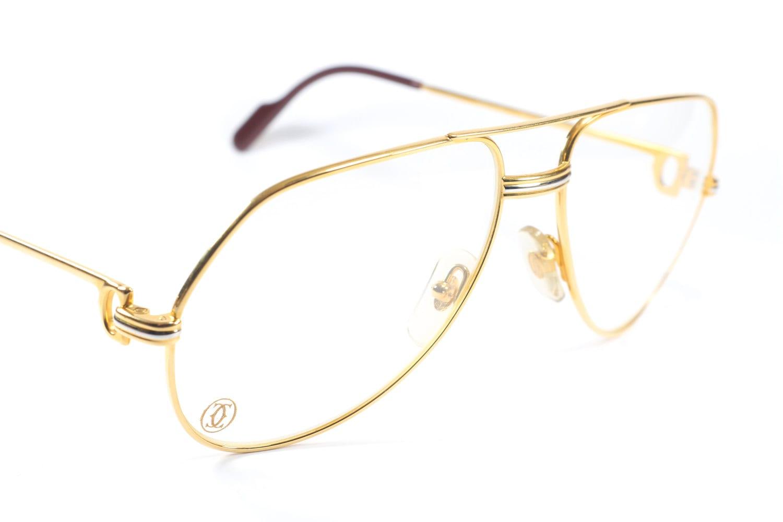 cartier vendome l c medium size vintage eyeglasses gold