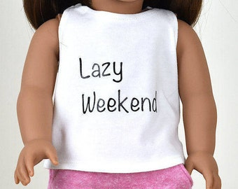 """Graphic top """"Lazy Weekend"""""""