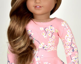 Long sleeve cropped top for 18 inch dolls