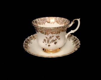 "Vintage Royal Albert ""Mother"" Tea Cup and Saucer      GC2621"