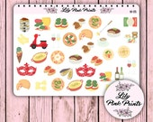 37 Memories of Italy Stickers M-05 - Perfect for Erin Condren Life Planners / Journals / Stickers.