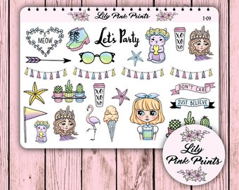 26 Just Believe Stickers I-09 - Perfect for Erin Condren Life Planners / Journals / Stickers.