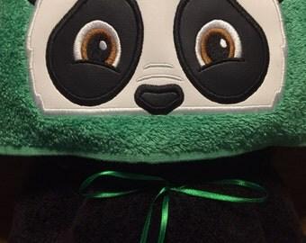 Panda Hooded Towel - Towel - Hooded childs towel - Panda - REDROCKCRAFTSWY